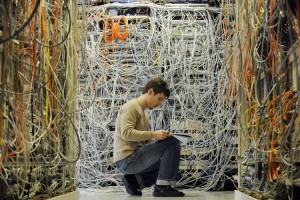 Tangled Wire Server Room